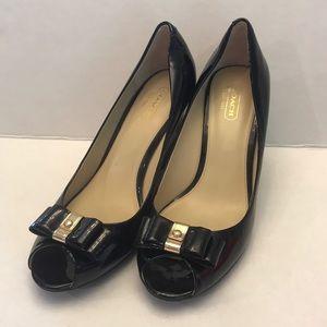 "Coach ""Emma"" Black Patent Shoes 8-1/2 B"